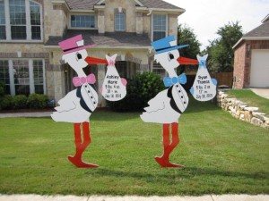 Twin Storks Sign - Yard Signs - Ft. Worth