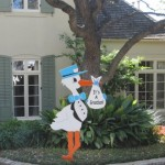 Blue Grandparent Stork Sign