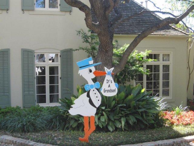 Blue Grandparent Stork Sign