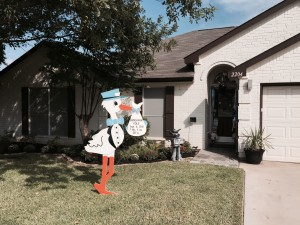 Boy Stork Sign Mansfield, TX Stork Worth