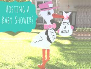 Baby Shower - Stork Sign - Stork Worth