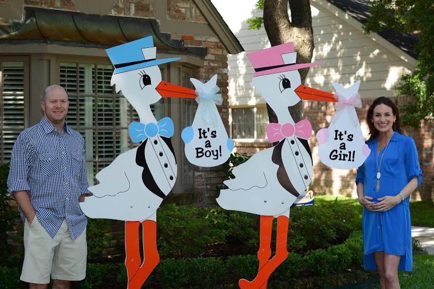 Gender Reveal Fort Worth Texas Stork Sign Rentals