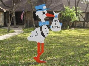 Grandchild - Yard Sign - Stork Rental - Fort Worth, TX