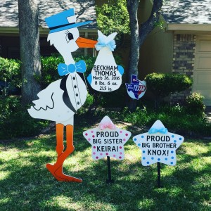 Stork Worth - Stork Sign Rental - Sibling Sign
